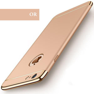 Coque luxueuse avec bordures reproduction platine pour iPhone 6 Plus et iPhone 6S Plus de couleur Or