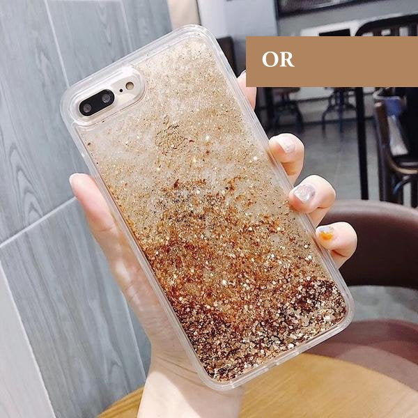 coque a paillette iphone 7 plus