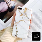 Coque luxueuse en silicone TPU souple style marbre pour iPhone 8