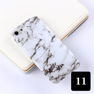 Coque luxueuse en silicone TPU souple style marbre pour iPhone XR