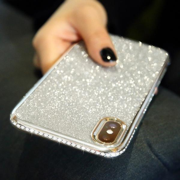 Coque luxueuse incrustée de strass et ultra brillante pour iPhone 6 Plus et iPhone 6S Plus de couleur Agrent