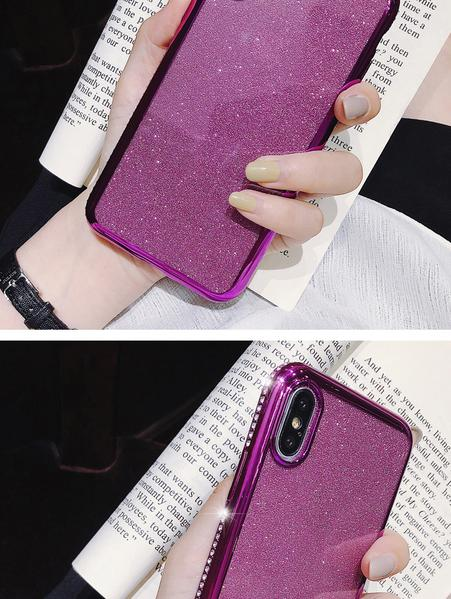 Coque luxueuse incrustée de strass et ultra brillante pour iPhone XR