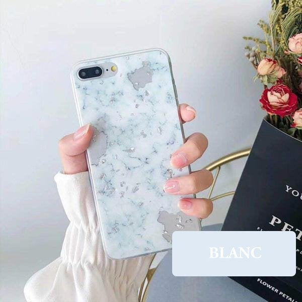 coque iphone xs max marbre or