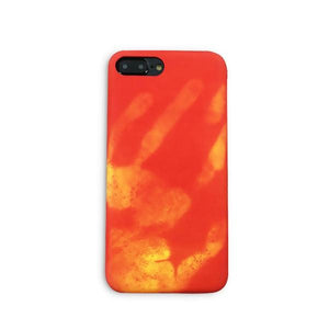 Coque magique thermo-réactive change de couleur au contact de la main pour iPhone 8 Plus Rouge