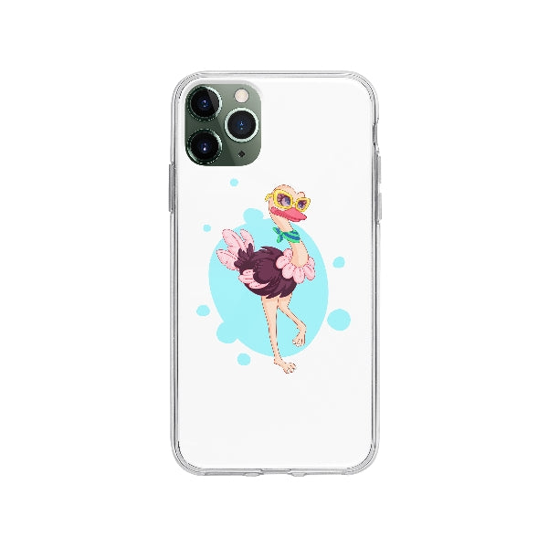 Coque Belle Autruche pour iPhone 11 Pro Max - Transparent