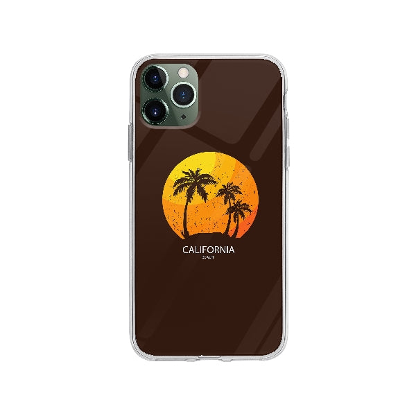 Coque California Beach pour iPhone 11 Pro Max - Transparent