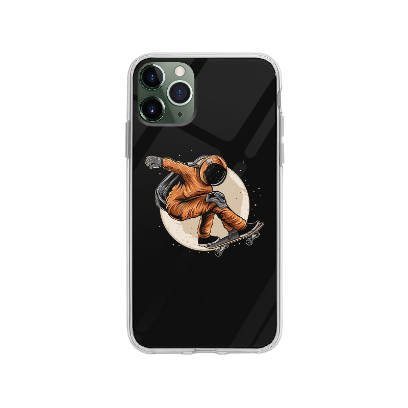 Coque Cosmonaute En Skateboard pour iPhone 11 Pro Max - Transparent