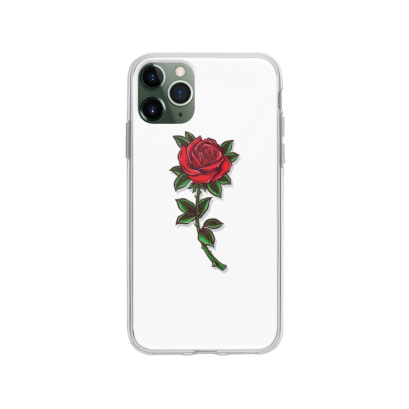 Coque Dessin Rose Vintage pour iPhone 11 Pro Max - Transparent