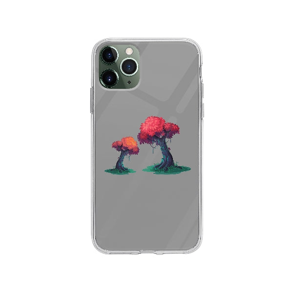 Coque Illustration Arbres pour iPhone 11 Pro Max - Transparent