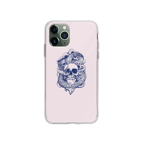Coque Crâne Et Serpents pour iPhone 11 Pro - Transparent