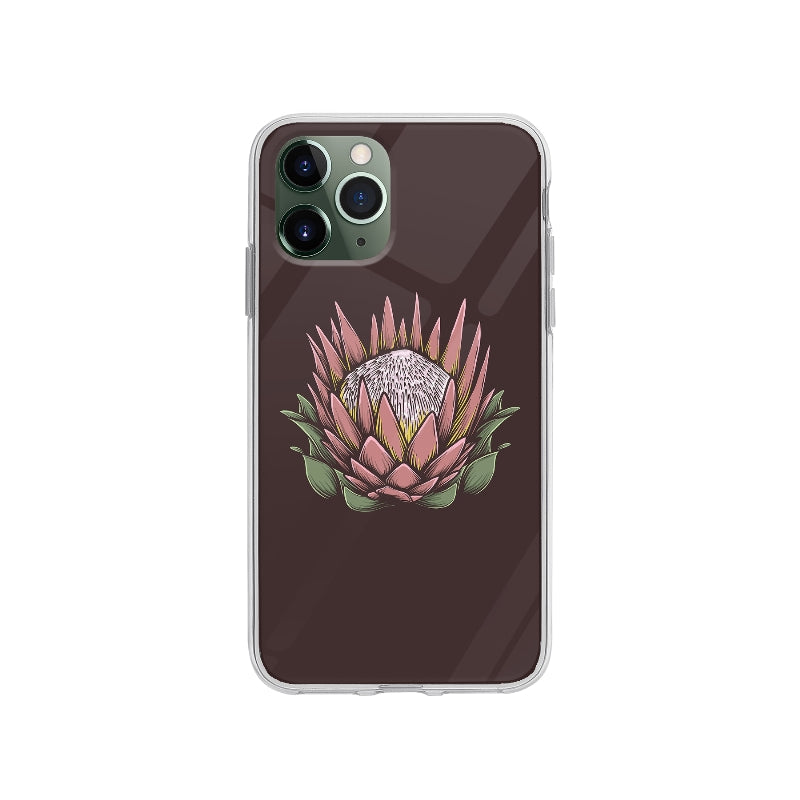 Coque Dessin Fleur Vintage pour iPhone 11 Pro - Transparent