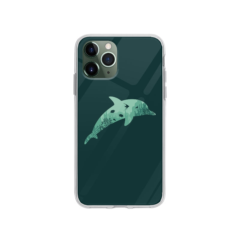 Coque Silhouette Dauphin pour iPhone 11 Pro - Transparent