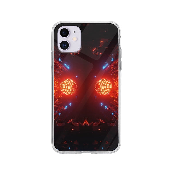 Coque Boule Disco Futuristique pour iPhone 11 - Transparent