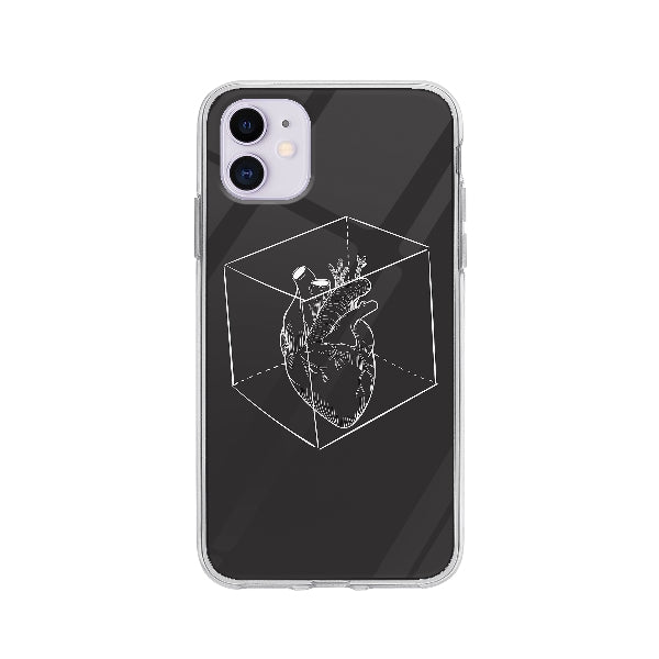 Coque Coeur Capturé pour iPhone 11 - Transparent
