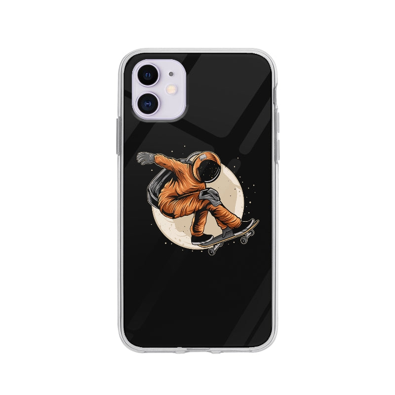 Coque Cosmonaute En Skateboard pour iPhone 11 - Transparent