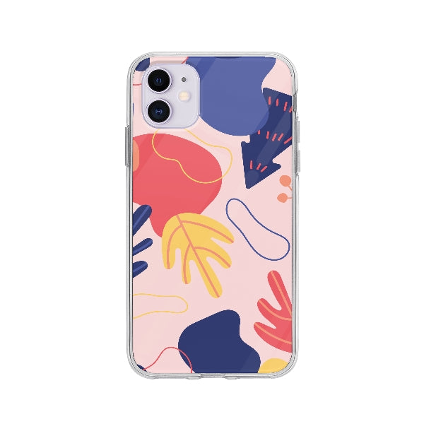 Coque Dessin Abstrait pour iPhone 11 - Transparent