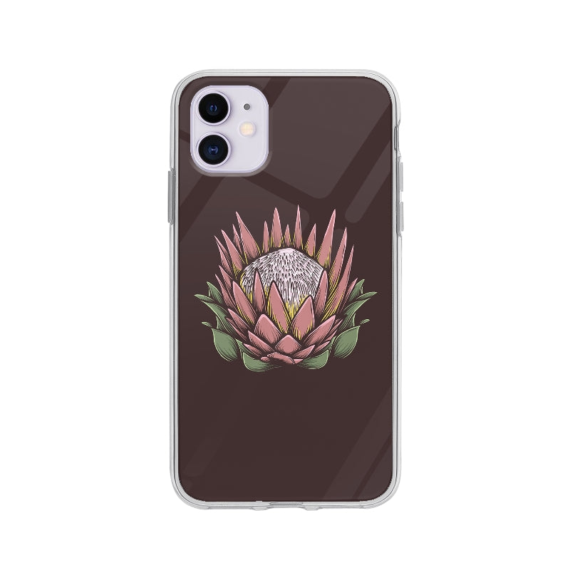Coque Dessin Fleur Vintage pour iPhone 11 - Transparent