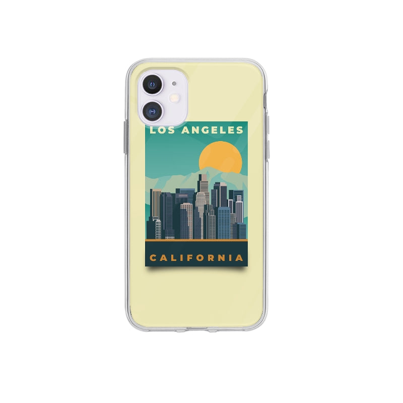 Coque Affiche Los Angeles pour iPhone 12 Max - Transparent