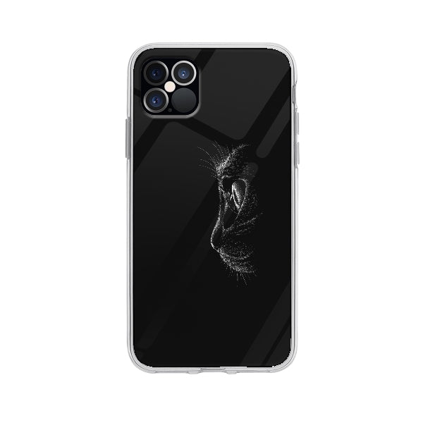 Coque Chat Noir pour iPhone 12 Pro Max - Transparent