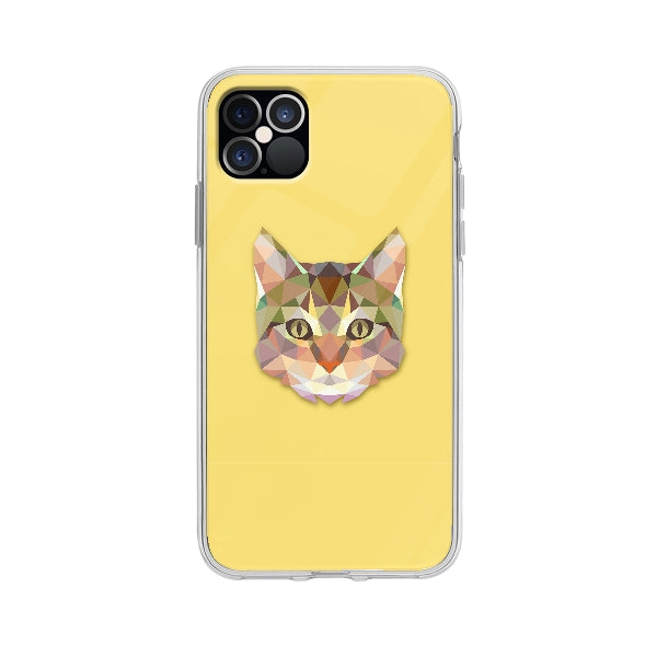 Coque Chat Polygonal pour iPhone 12 Pro Max - Transparent
