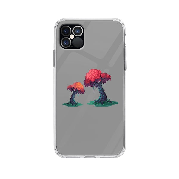 Coque Illustration Arbres pour iPhone 12 Pro Max - Transparent