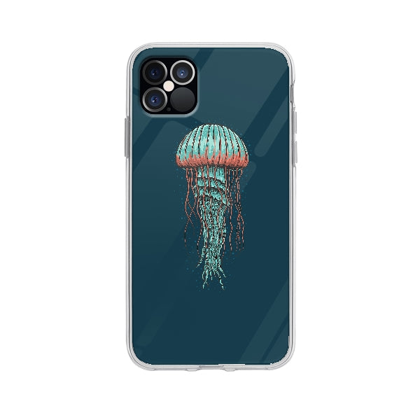 Coque Illustration Méduse pour iPhone 12 Pro Max - Transparent