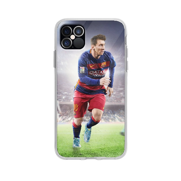 Coque Leo Messi pour iPhone 12 Pro Max - Transparent