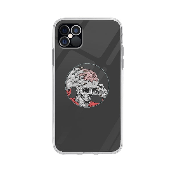 Coque Zombie Squelette pour iPhone 12 Pro Max - Transparent