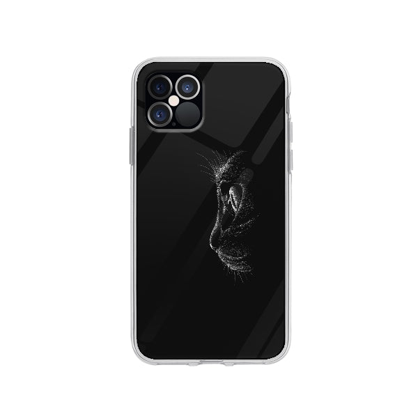 Coque Chat Noir pour iPhone 12 Pro - Transparent