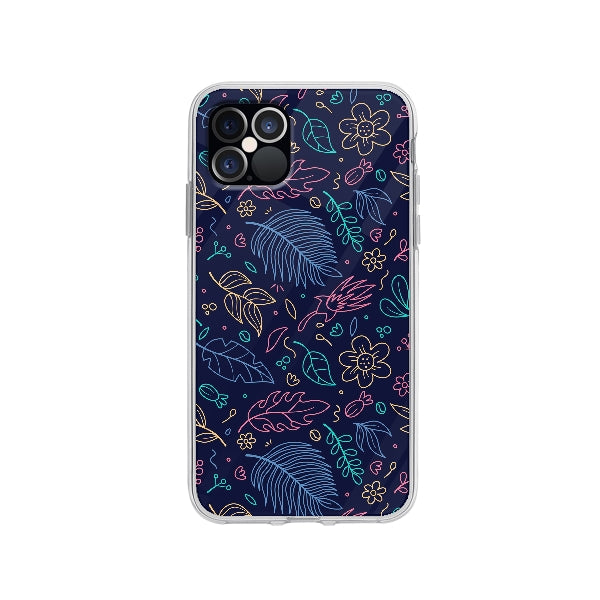 Coque Contour Floral pour iPhone 12 Pro - Transparent