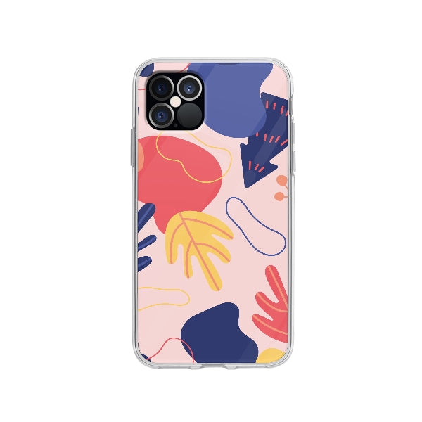 Coque Dessin Abstrait pour iPhone 12 Pro - Transparent