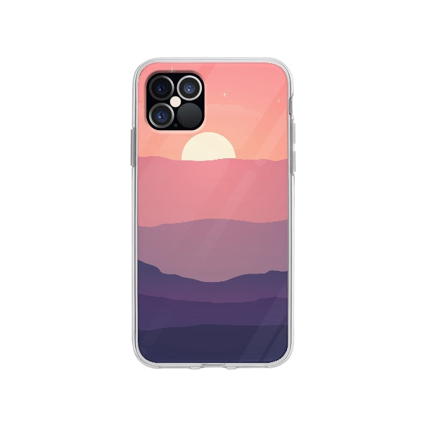 Coque Horizon Rose pour iPhone 12 Pro - Transparent