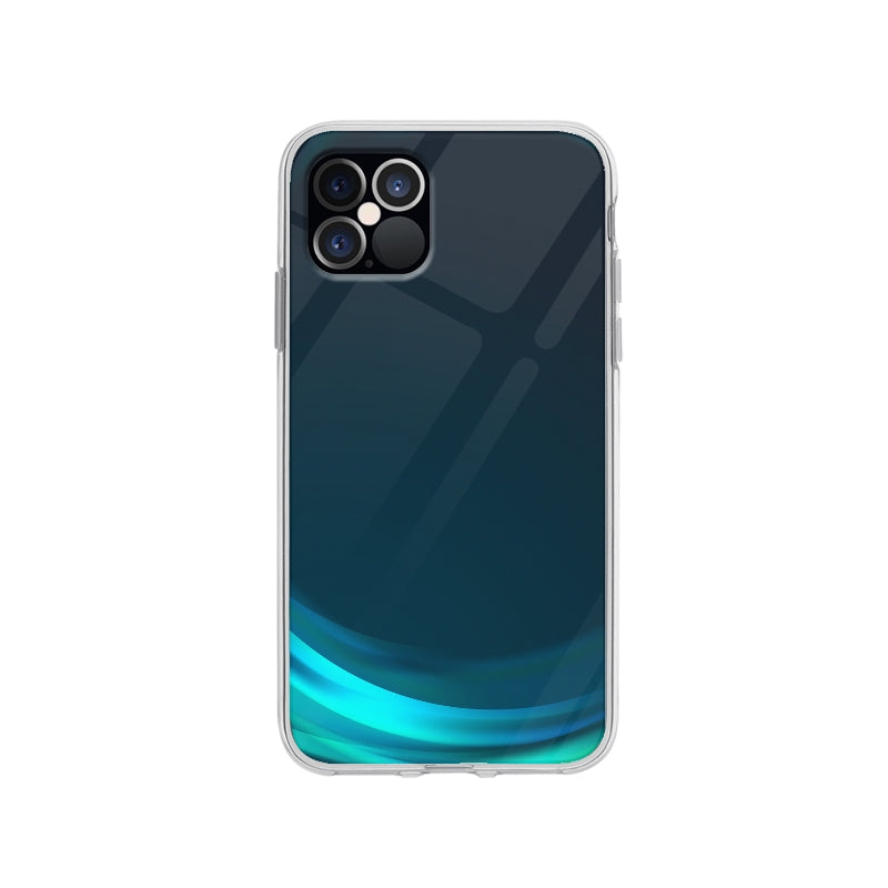 Coque Vague Bleu pour iPhone 12 Pro - Transparent