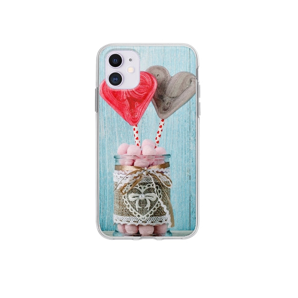 Coque Candy Coeurs pour iPhone 12 - Transparent