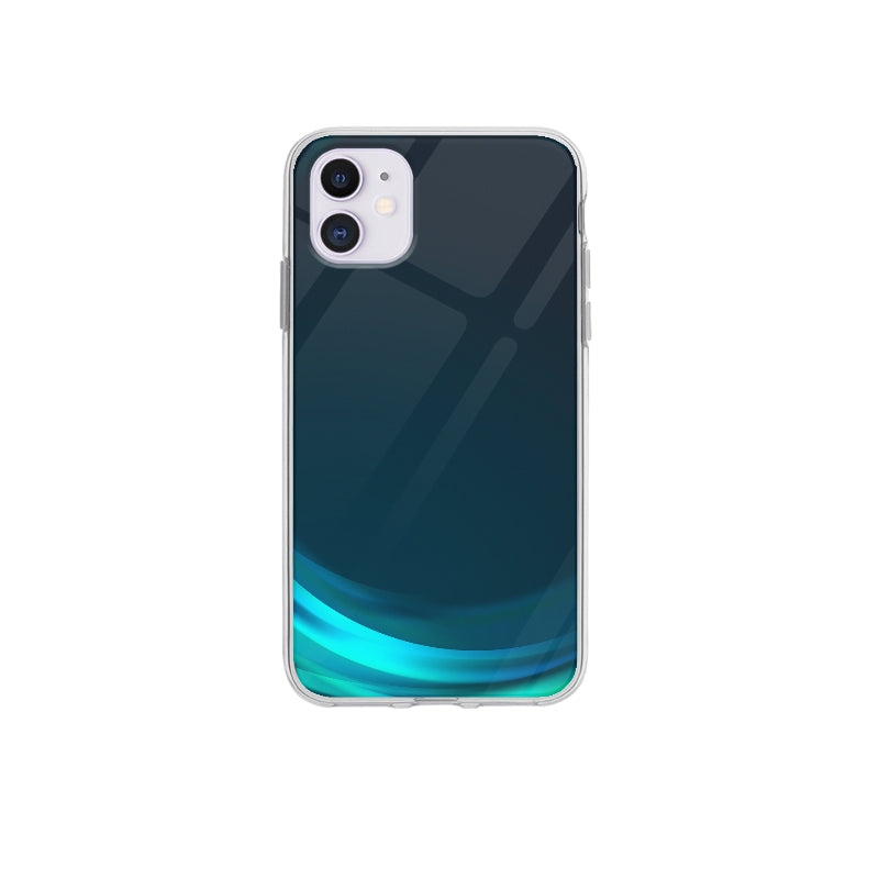 Coque Vague Bleu pour iPhone 12 - Transparent
