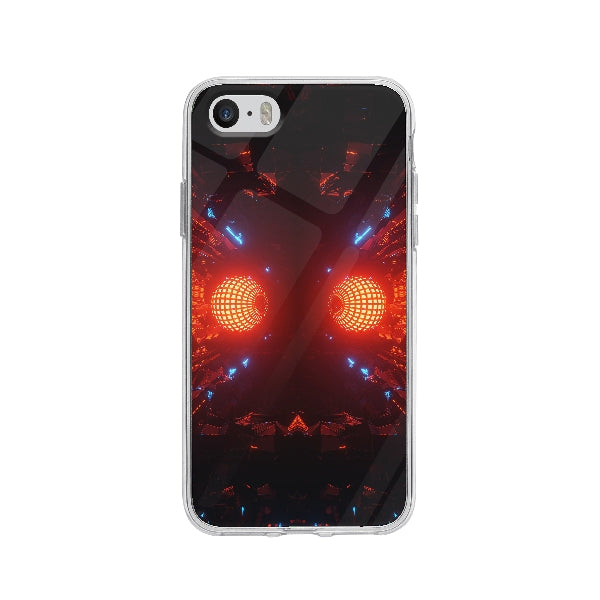 Coque Boule Disco Futuristique pour iPhone 5 - Transparent