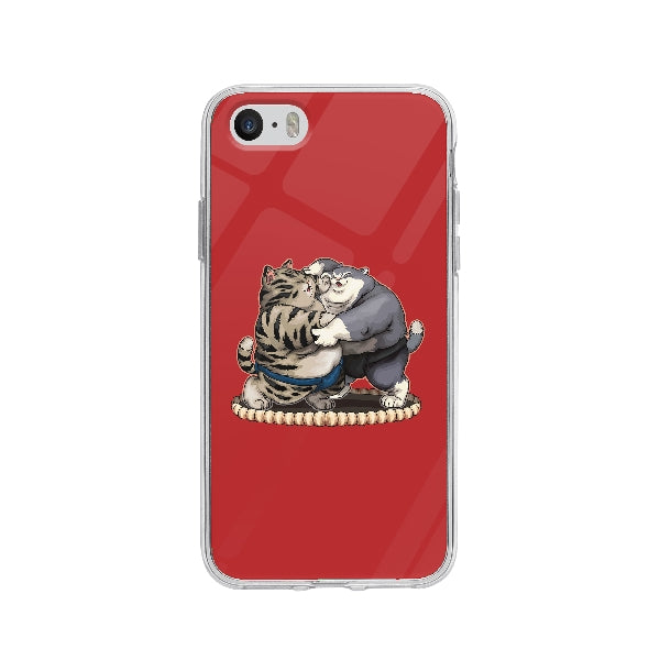 Coque Chats Sumo pour iPhone 5 - Transparent