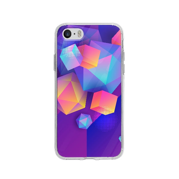 Coque Formes Polygonales pour iPhone 5 - Transparent