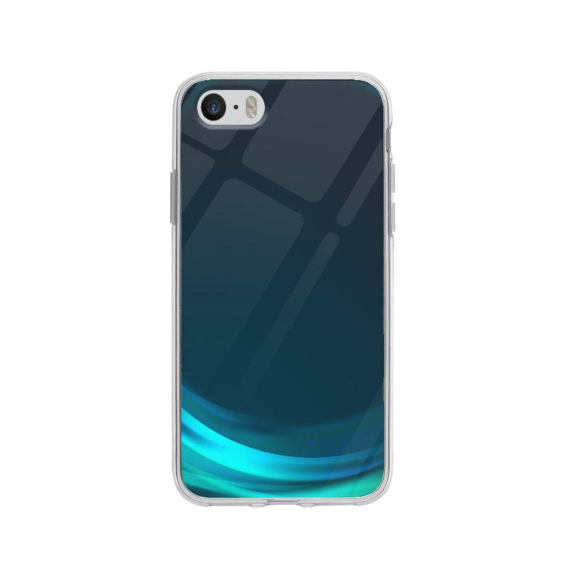 Coque Vague Bleu pour iPhone 5 - Transparent