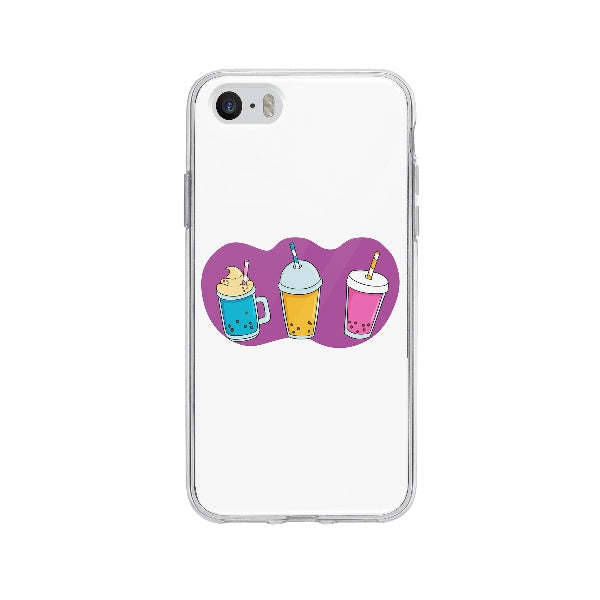 Coque Bubble Tea pour iPhone 5S - Transparent