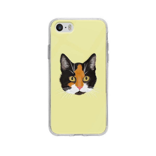 Coque Dessin Chat A La Main pour iPhone 5S - Transparent