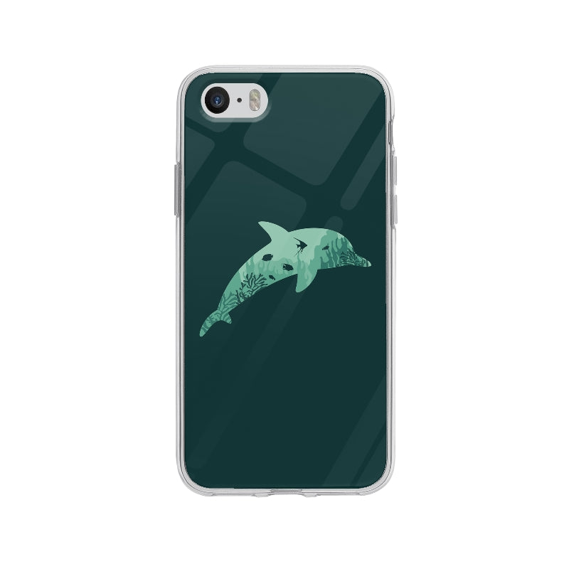 Coque Silhouette Dauphin pour iPhone 5S - Transparent
