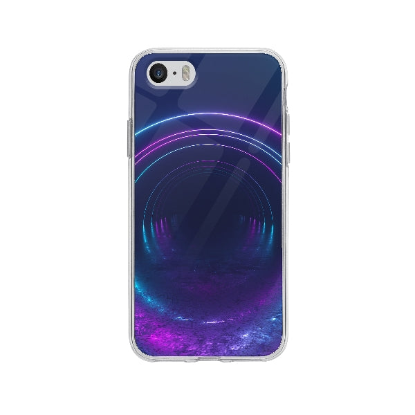 Coque Tunnel Infini pour iPhone 5S - Transparent