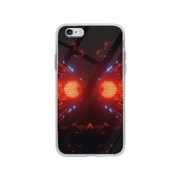 Coque Boule Disco Futuristique pour iPhone 6 Plus - Transparent