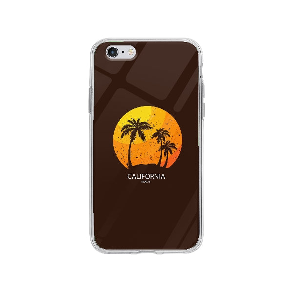 Coque California Beach pour iPhone 6 Plus - Transparent