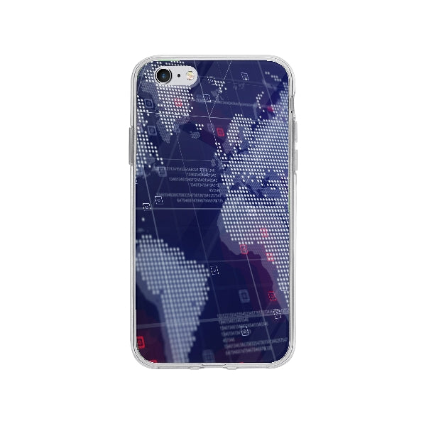 Coque Carte Du Monde Holographique pour iPhone 6 Plus - Transparent