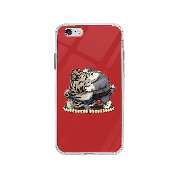 Coque Chats Sumo pour iPhone 6 Plus - Transparent