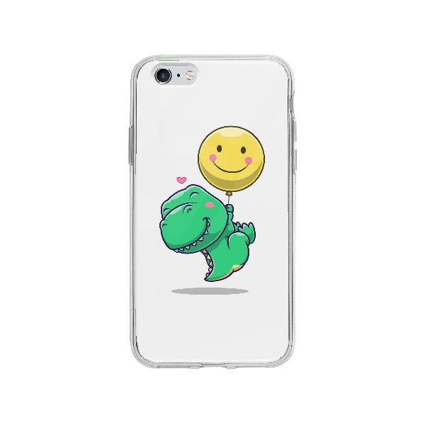 Coque Dinosaure Mignon Flottant pour iPhone 6 Plus - Transparent