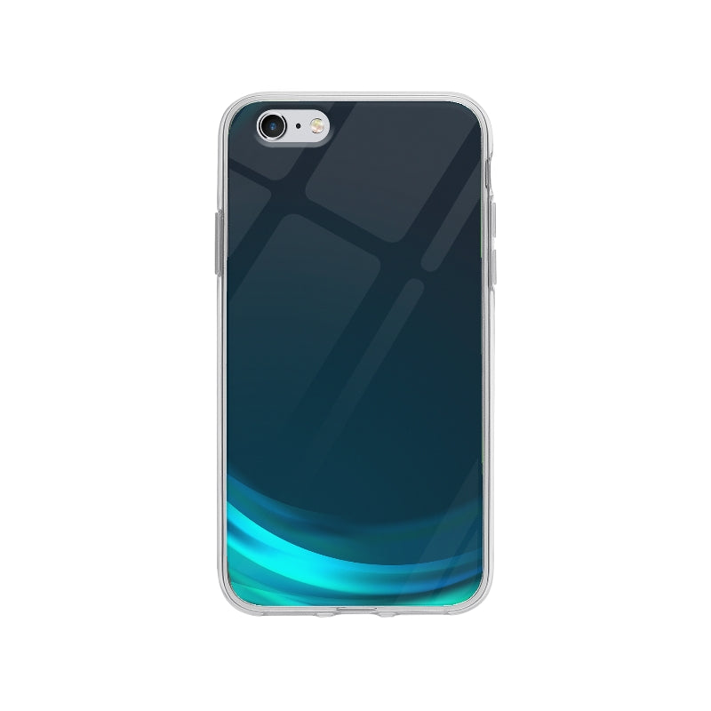 Coque Vague Bleu pour iPhone 6 Plus - Transparent