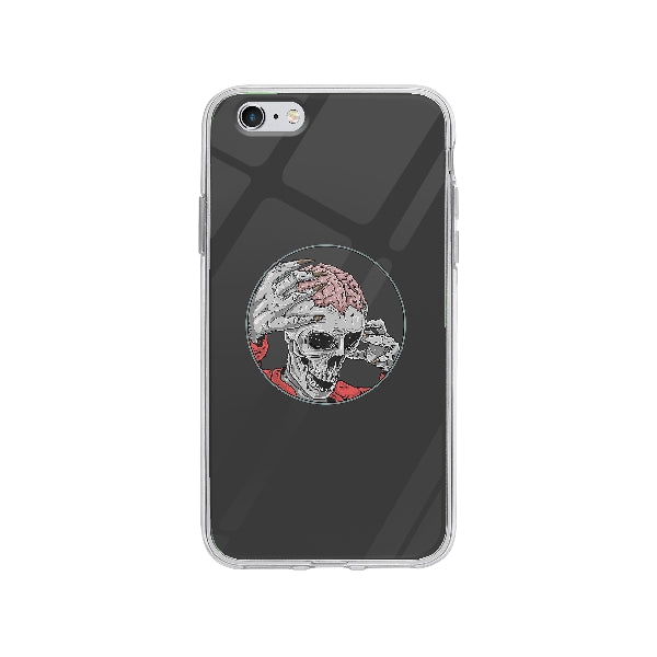 Coque Zombie Squelette pour iPhone 6 Plus - Transparent